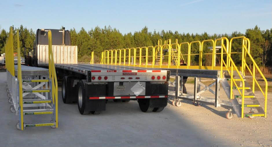 Dual Truck Flatbed Fall Protection