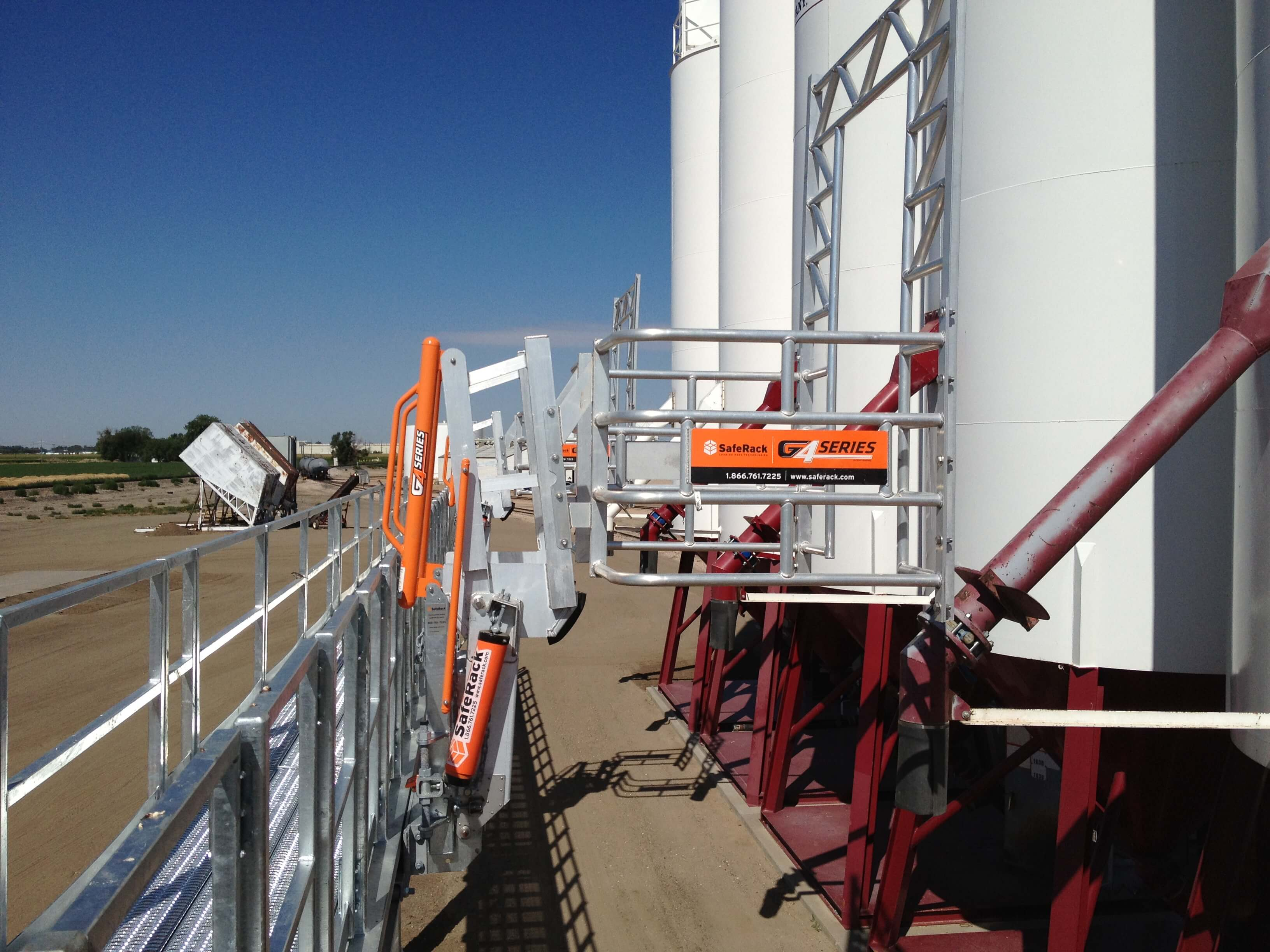 Cement Plant Gangway with Fall Protection