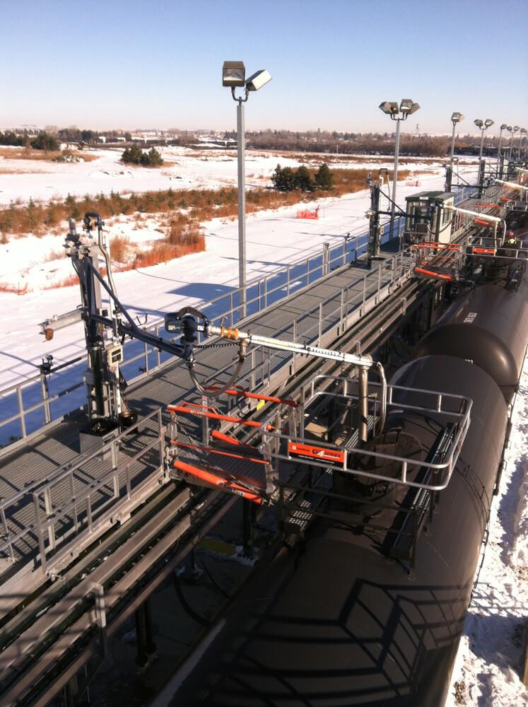 Railcar Gangway with Loading Arm