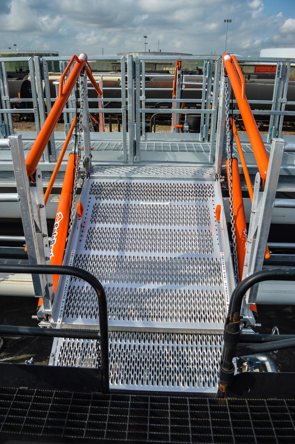 Railcar Loading Ramp Gangway System