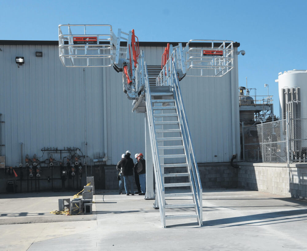Truck Unloading Platform with Gangway and Fall Protection