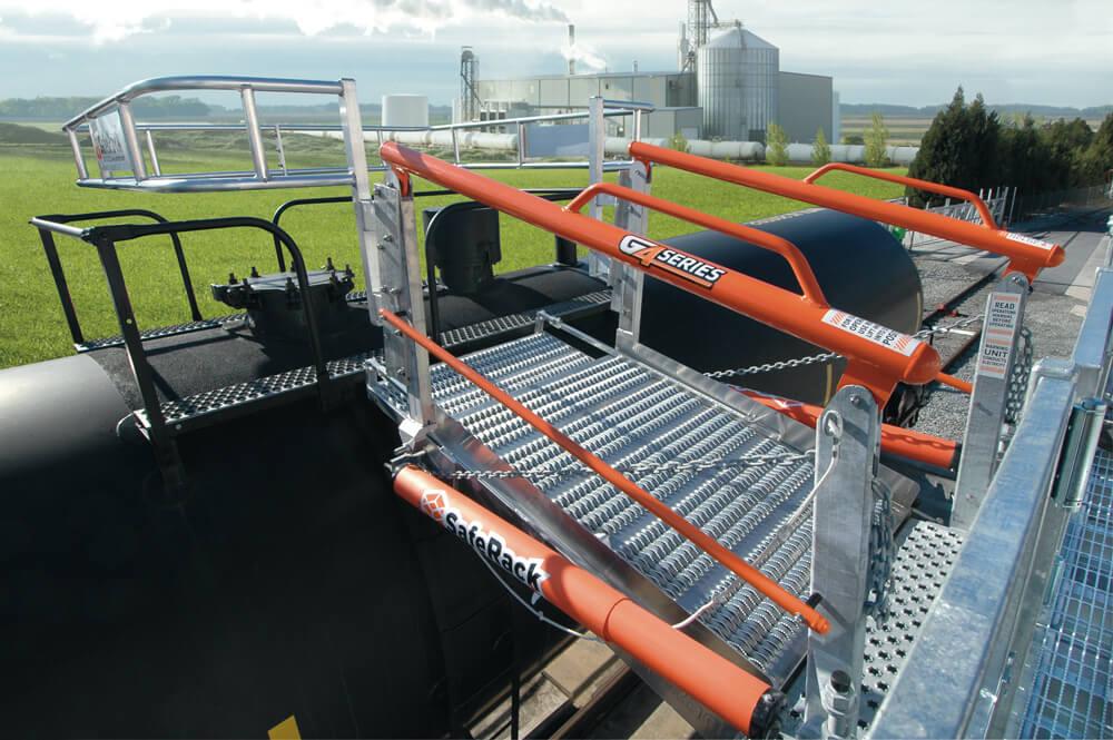 48 Inch Wide Railcar Gangway w/ Cage