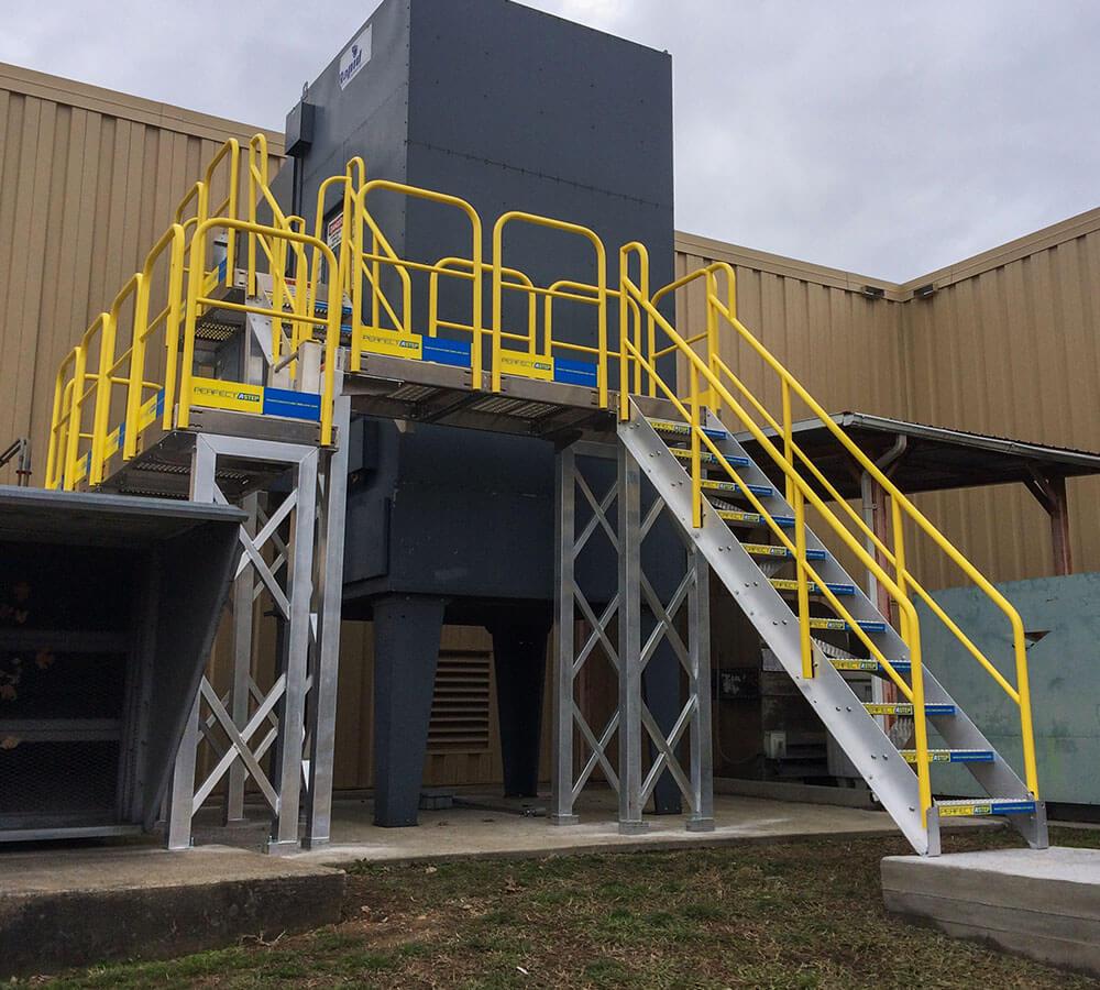 Aluminum Stairs Work Platform