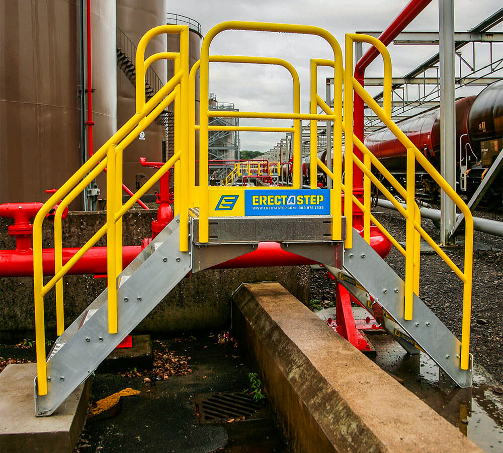 Metal Stair Work Platform Crossover System