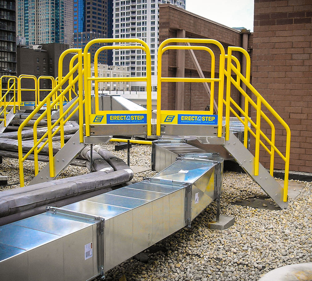 Multiple Work Platform Aluminum Stair Solutions