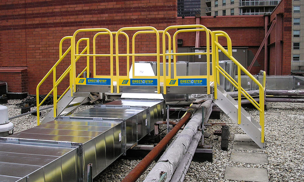 Work Platform Metal Stair Crossover System